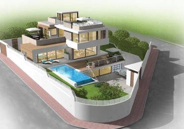 New production – unique luxury villa with exciting design and 360 sqm living space!